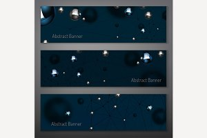 Silver Particles Banners