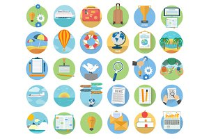 Set icons set of traveling