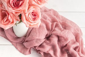 Pink roses stock photography #7002