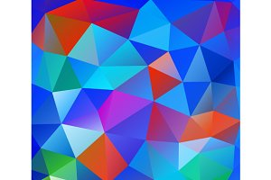 Triangle background. Colorful polygo