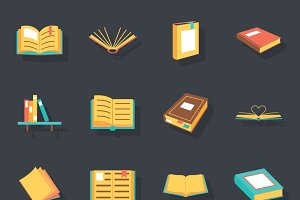 Flat isometric book