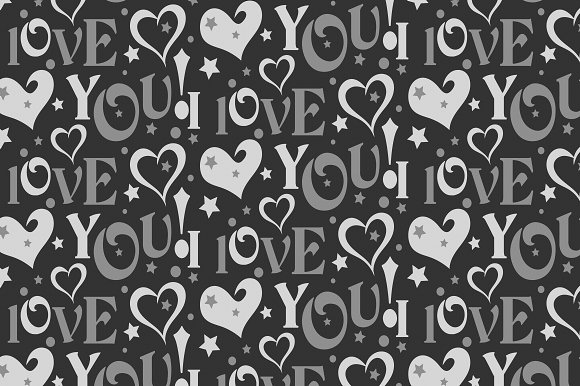 I Love You Abstract Background
