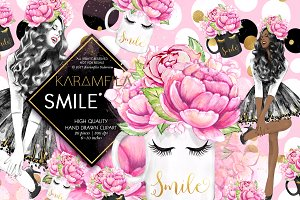 Smile Coffee Fashion Clipart