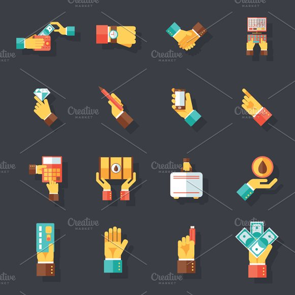 Business Hands Symbols