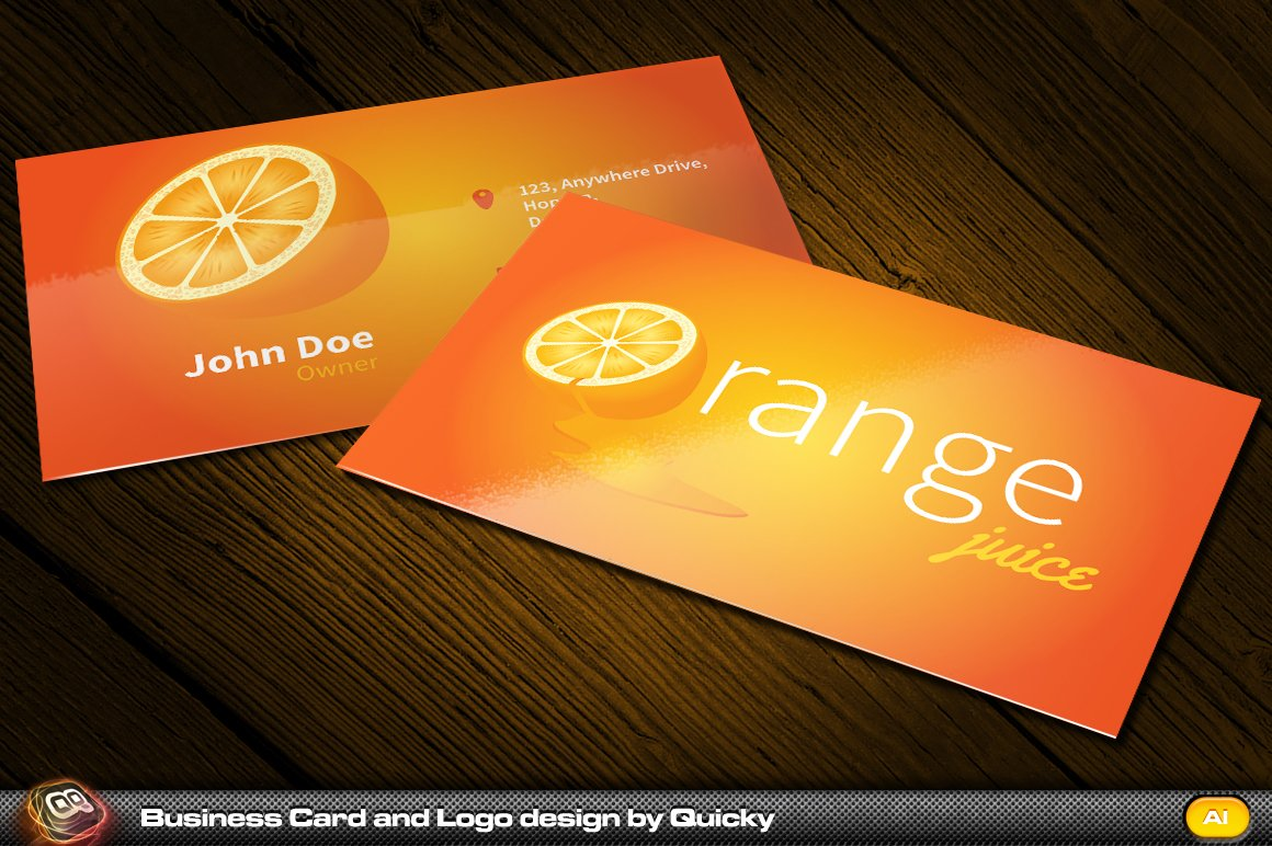 Orange juice business card and logo business card templates orange juice business card and logo business card templates creative market magicingreecefo Image collections