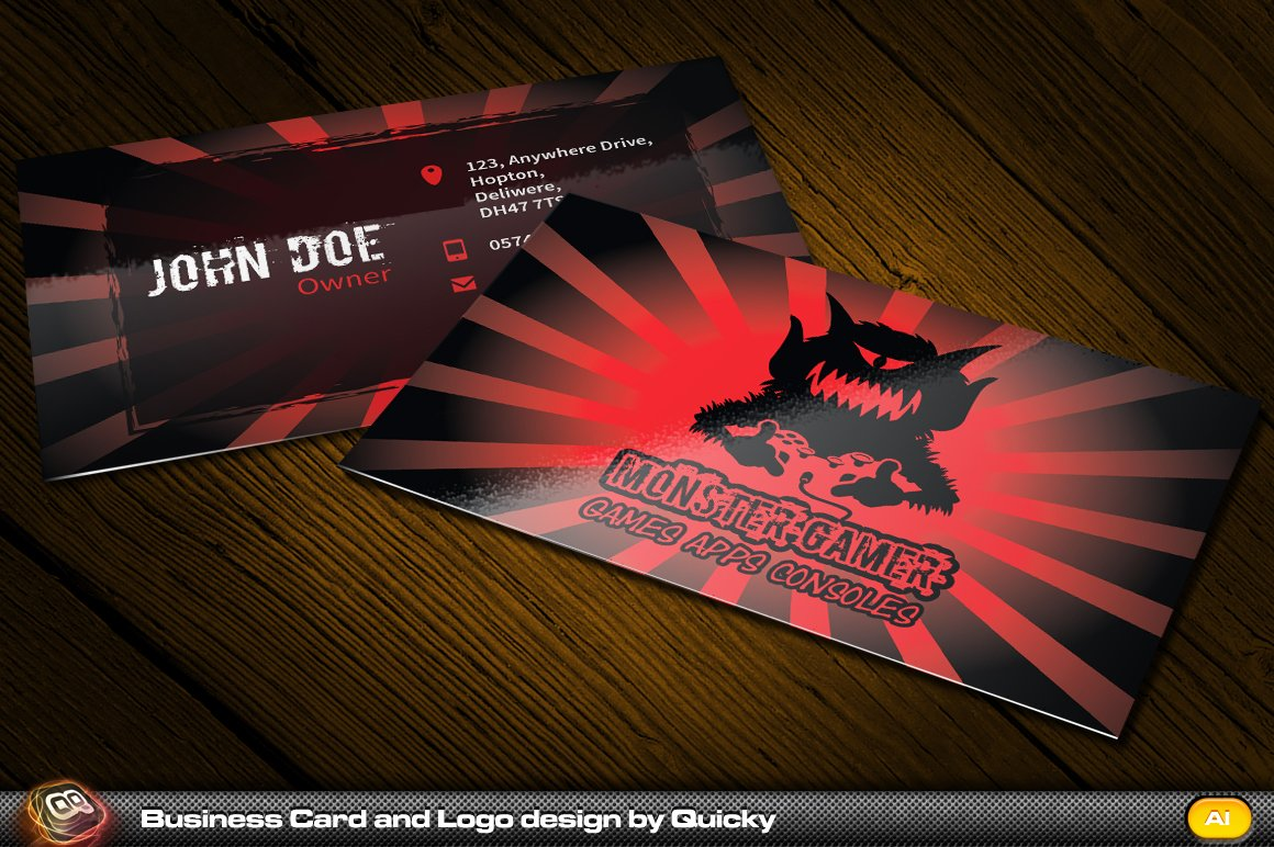 Orange juice business card and logo business card templates monster gamer business magicingreecefo Image collections