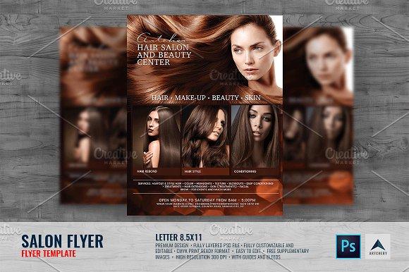 Salon And Hair Shop Flyer Flyer Templates Creative Market