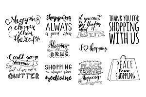 Shopping quotes set