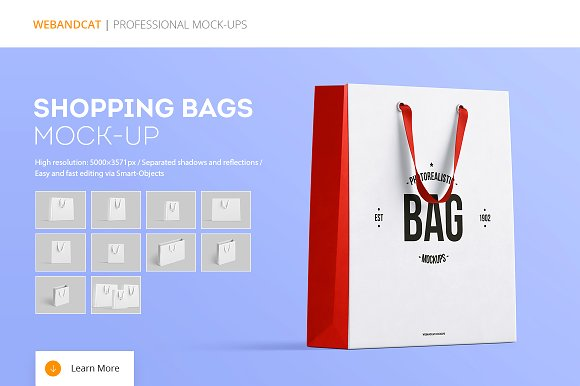 Free Shopping Bag Mock-up