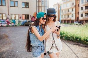 Two street girls.