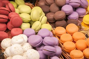 candy colored macarons