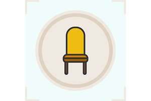 Classic chair color icon