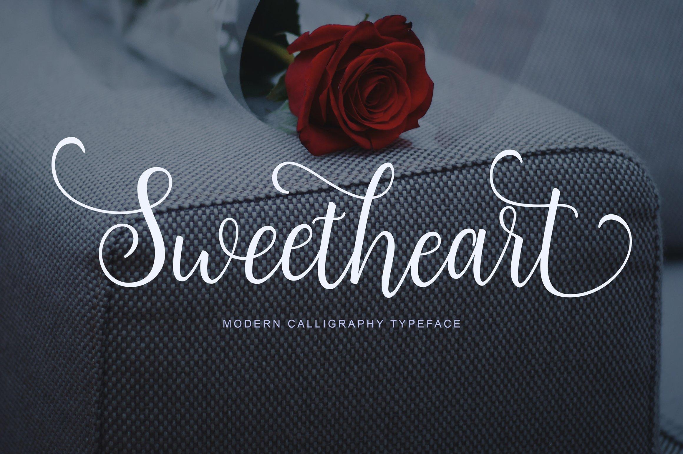 Sweetheart Script Fonts Creative Market