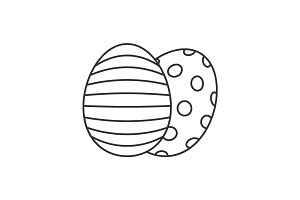 Easter eggs line icon