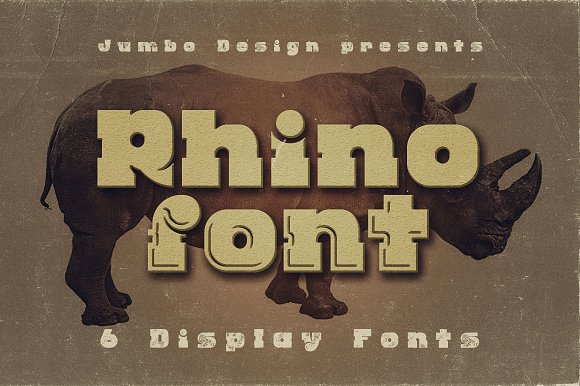 Rhino Display Font