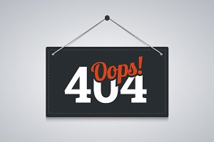 404 sign for website server error.