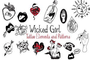 Wicked Girl Tattoo Elements/Patterns