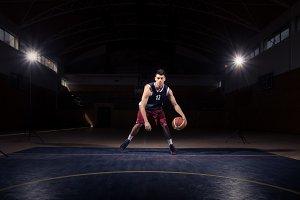 man basketball player court indoors