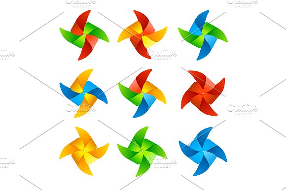 Colorful Wind Mill Set
