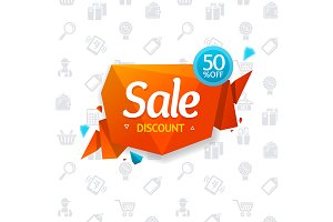 Sale Label Bubble and Background
