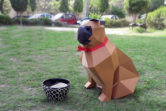 DIY Paper Pug 3D Papercrafts
