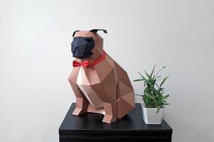 DIY Paper Pug - 3d papercrafts