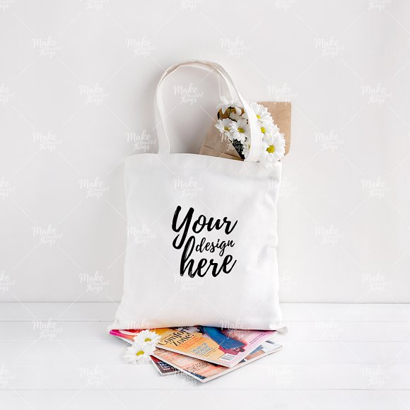 Download Canvas tote bag mockup #7001