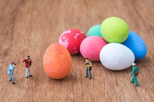 taking a photograph of easter eggs