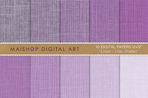 Digital Paper-Linen-Lilac Shades