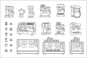 Coffee machine set