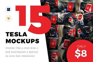 15x Tesla Mockups