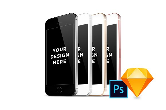 32x IPhone SE Mockups