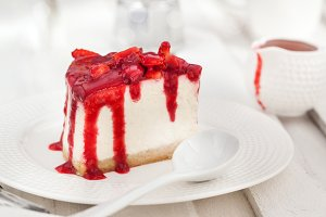 Delicious cheesecake
