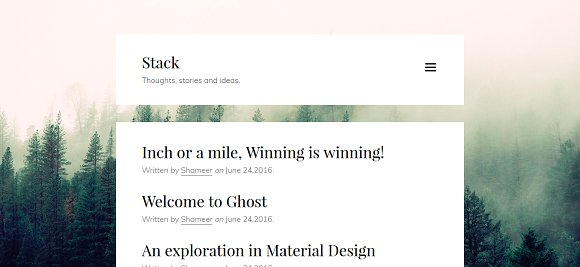 Stack Minimal Ghost Theme