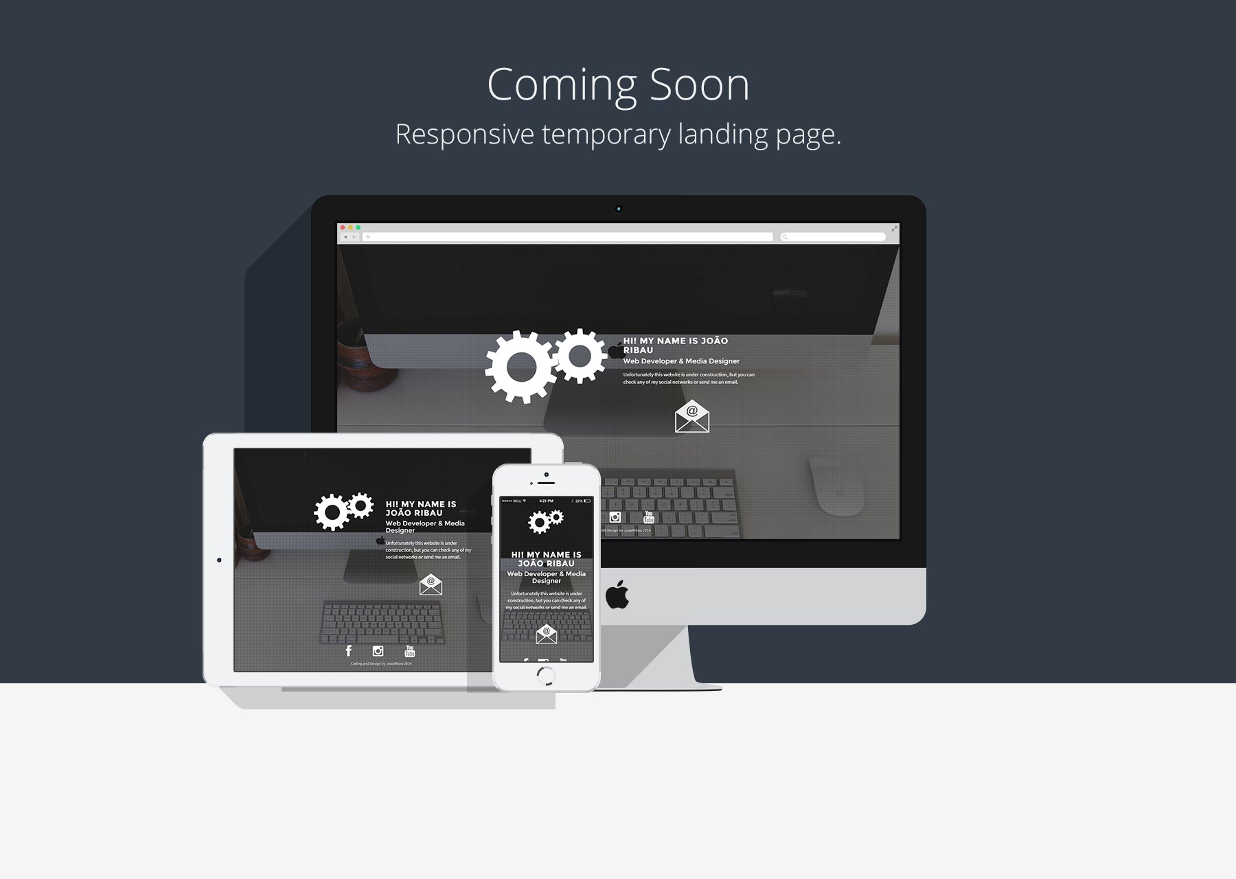Coming Soon - Temporary HTML5 Page ~ HTML/CSS Themes ~ Creative Market