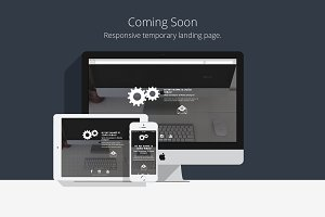 Coming Soon - Temporary HTML5 Page