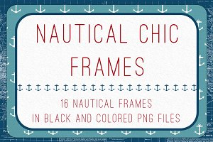 nautical chic frames - Nautical Frames
