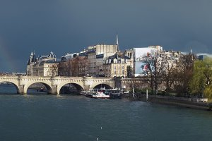 Panoramic view pont neuf Paris
