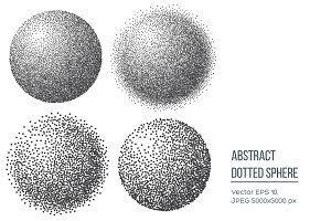 Abstract dotted sphere.