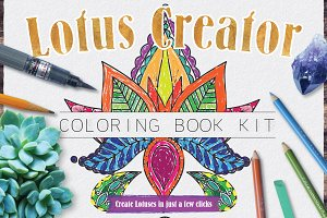 Lotus Flower Creator Coloring Kit