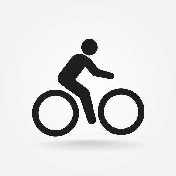 Cyclist Icon Bicyclist Icon