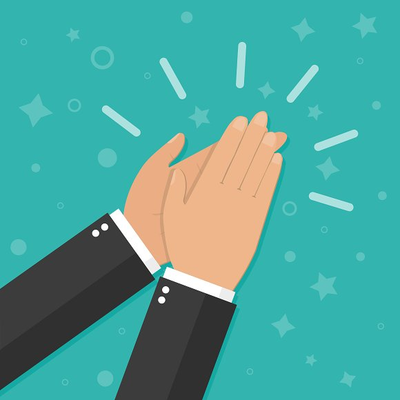 Hands Clapping Vector Icons