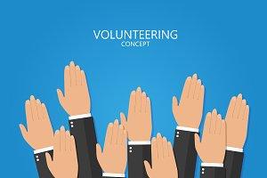 Volunteering hand