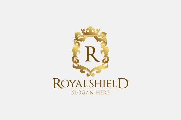 royal shield logo logo templates creative market. Black Bedroom Furniture Sets. Home Design Ideas