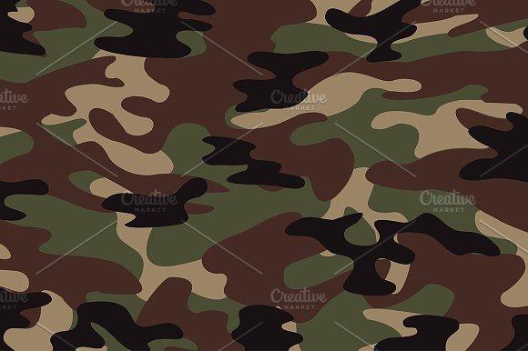 Green Camoflage Pattern