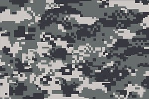 Grey Digit Camoflage Pattern(Vector)
