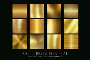 Gold brushed metal textures