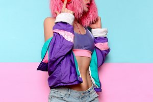 Girl DJ. Glamorous