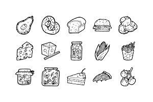 105 Food Hand-drawn Icons