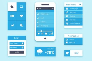 Mobile OS UI interface elements